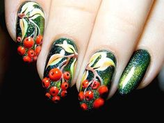 Try this simple and fashionable manicure 2017 Fall Nail Art Designs, Diy Nail Designs, Autumn Nails, Winter Nails, Nail Art Diy, Easy Nail Art, Manicure 2017, Manicure Tips, Manicures