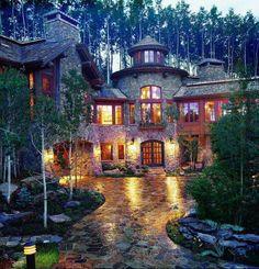 Mountain home. uhmm this is seriously my DREAM home. Gonna make this a reality one day Mountain home. uhmm this is seriously my DREAM home. Gonna make this a reality one day Future House, My House, Beautiful Homes, Beautiful Places, Beautiful Dream, Vail Colorado, Colorado Homes, House Goals, Log Homes