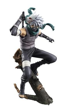 "This exciting statue features the massively popular Naruto character Hatake Kakashi in his dark version with his mask behind his head and  posed just about to draw his sword. Part of Megahouse's G.E.M. collection, the 1/8th scale statue stands around 9.4"" tall and perfectly captures Kakashi's appearance from the anime.  #figure"