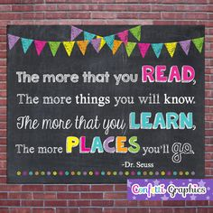 Dr Seuss The More That You Read The More by ConfettiGraphics