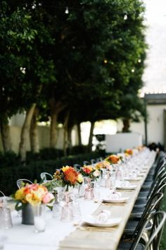 Tablescape, Avalon Palm Springs, Flowers by: JL Designs Couture Floral & Event Styling, Photo: Max & Friends - California Wedding http://caratsandcake.com/juliamark