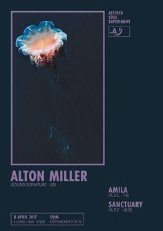 ALTERED SOUL EXPERIMENT x MAISON C.C. / Poster design - Alton Miller