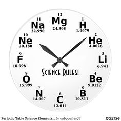 Shop Periodic Table Science Elements Custom Wall Clock created by Personalize it with photos & text or purchase as is! Physics Formulas, Physics And Mathematics, Math Clock, Chemistry Classroom, Maths, Math Quotes, Chemistry Lessons, Wall Watch, Paper Crafts Origami