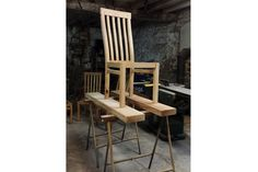 This handmade oak dining chair is simple, clean and understated in design.The steam-bent back rails of this bespoke chair will provide beautiful comfort. High Back Dining Chairs, Oak Dining Chairs, Dining Table, Bespoke Furniture, Seat Cushions, Home Decor, Bench Seat Cushions, Decoration Home
