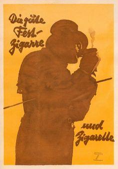FB / Die Gude Fess-Zigarre uud Zigarette, 1926 - Ludwig Hohlwein