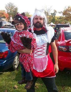 Halloween: Los mejores disfraces para padres e hijos - Caperucita y el baby lobo