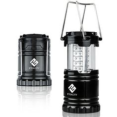Etekcity Ultra Bright Portable LED Camping Lantern Flashlights (10-Year Warranty) for Home & Outdoor Hiking Camping Emergency Hurricanes Outages (Black Collapsible)