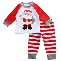 82d872d4e7437 2Pcs Suits Children Clothing Christmas Baby Toddler Kids Deer Tops Pants  Homewear Pajamas Clothes 2PCS Set