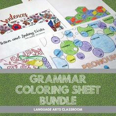 Diversify grammar lesson plans and engage students with these coloring activities. Students will practice their grammar skills while matching codes to coloring sheets. This bundle includes SEVEN products for a discounted price. This bundle is targeted for