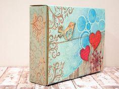 Caja decorada organizadora de washi tape   Hadas y Cuscus