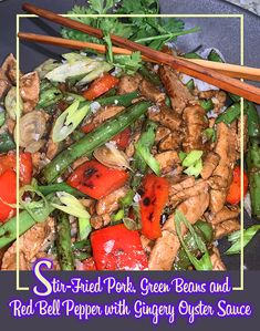 Chicken broth gives the sauce some backbone, and cornstarch slightly thickens it so that it lightly cloaks the meat and veggies. Pork And Green Beans, Quick Stir Fry, Fried Pork, Oyster Sauce, Cloaks, Pot Roast, Oysters, I Foods, Fries