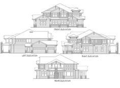 Substantial Columns and Trim Create Bold Facade - 23188JD | 2nd Floor Master Suite, Bonus Room, Butler Walk-in Pantry, CAD Available, Craftsman, Den-Office-Library-Study, Loft, Luxury, Northwest, PDF, Photo Gallery, Premium Collection | Architectural Designs