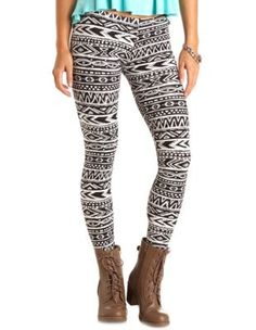 Cotton Tribal Printed Leggings. I would probably wear them with my combat boots too.