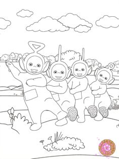 teletubbies coloring page from teletubbies paint sparkles app - Teletubbies Dipsy Coloring Pages