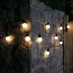 4.5m Outdoor Battery Powered Festoon Lights with 10 Bright LEDs by Festive Lights (Warm White)