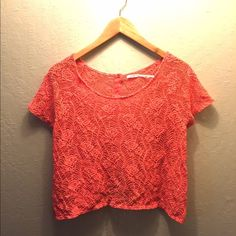 UO's Kimchi Blue Coral Lace Top Urban Outfitter's Kimchi Blue Coral Lace Top »→ s [fits tts] »→ cotton • nylon »→ button back closure »→ preloved but in excellent condition Urban Outfitters Tops Crop Tops