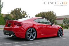 A red toyota 86 with five axis body kit! Very Nice