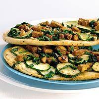 Recept - Pizza van naanbrood met tofu - Allerhande