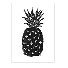 """This print is a hand carved, printed and pulled open edition linocut of a pineapple. The pineapple is said to represent hospitality, friendship, home and warmth. Paper size ~ 9""""x12"""" Image size ~ appro"""