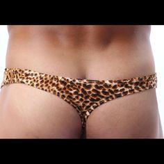 Very sexy Cockcon thong! Leopard print