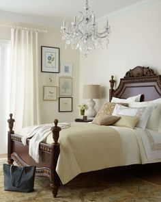 bianchi king bed - Bordeaux Louis Philippe Style Bedroom Furniture Collection