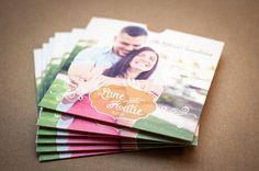 These beautiful CD / DVD sleeves are custom made with your wedding information and song list. The sleeves are made of sturdy kraft recycled
