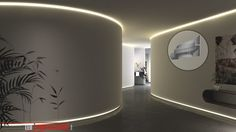 LED Lichtdesign für Rundungen Led Licht, Mirror, Lighting, Furniture, Home Decor, Painting Contractors, Light Design, Indirect Lighting, Hanging Wallpaper