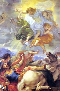 Poster Print-Ceiling fresco in St. Ambrose and St. Charles Basilica, Rome, Lazio, Italy, poster sized print mm) made in the UK Baroque Painting, Italy Painting, Fine Art Prints, Framed Prints, Poster Prints, Canvas Prints, Roman Church, Dutch Golden Age, Europe Photos