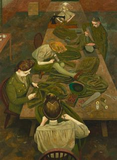 Evelyn Mary Dunbar (18 December 1906 - 12 May 1960): Army Tailor and ATS Tailoress (1943)