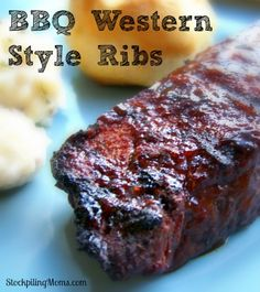 Looking for a great grilling recipe for Father's Day?  BBQ Western Style Ribs is perfect! #FathersDay