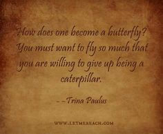 Give up being a caterpillar!