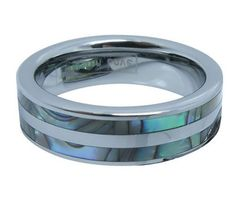 6mm High Polish Tungsten Carbide Ring Women's Aniversary/engagement/wedding Band Set with Double Abalone Inlay (Size Selectable) TungstenLove. $28.99. Ring Size selectable. Thickness: 2.3 to 2.5mm. Finish: Abalone Shell Inlay & Polish Shiny. Width: 6mm