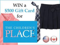 School uniforms in July? Yuck right, who wants to think about Back to School so early? What if I told you that The Children's Place has an amazing sale on their Gift Card Giveaway, School Shopping, Back To School, Children's Place, Kids Outfits, Kids Fashion, Gym Shorts Womens, My Style, Cards