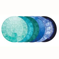 Capiz Shell Round Placemat   Gracious Style