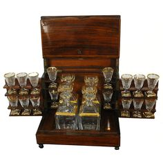 French 20th Century Rosewood Cave A Liqueur Box | From a unique collection of antique and modern barware at http://www.1stdibs.com/furniture/dining-entertaining/barware/