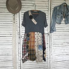 Reserved Prairie Chic Dress or Top M/L Upcycled Clothing