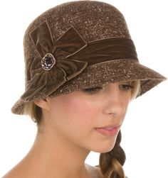 Sakkas Womens Vintage Style Cloche Bucket Bell Hat with Velvet Flower Accent $25.00 (58% OFF) + Free Shipping