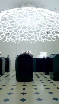Christofle installation in Paris by Mathieu Lehanneur