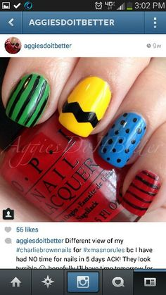For my little girl: Charlie Brown Nails