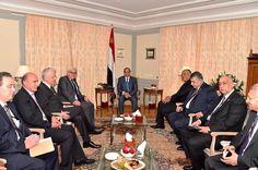 الأوضاع الإقليمية في منطقة الشرق الأوسط على قمة المناقشات بين الرئيس السيسي و وزير الخارجية الالماني شتاينماير