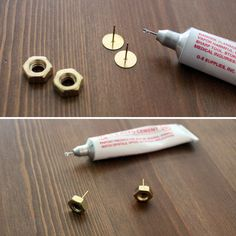 How to Create Gorgeous Gold Jewelry from the Hardware Store via Brit + Co. DIY