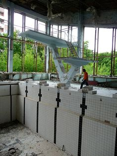 Prypiat, Ukraine - pool and gym complex by t010101, via Flickr (Chernobyl)