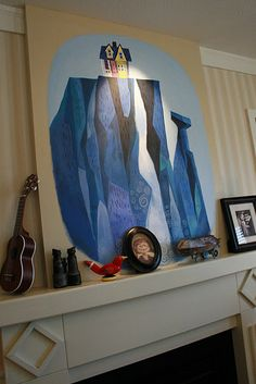 I love the movie, Up. On my walls? Hmm.