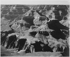 """View of rock formations, """"Grand Canyon National Park,"""" Arizona.  