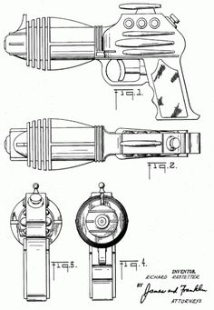 This patent from the Louis Marx Company was sold as the Flash Gordon water pistol. 1953.