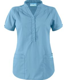 Butter-Soft Scrubs by UA™ Mandarin Collar Top Scrubs Pattern, Buy Scrubs, Scrubs Uniform, Medical Scrubs, Drawstring Pants, Scrub Tops, Mandarin Collar, Work Attire, Tunic Tops