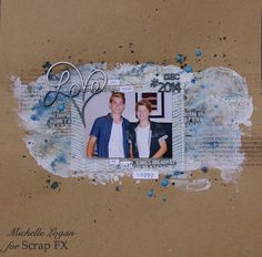 Continuous Love by Michelle Logan, featuring Scrap FX products:  chipboard Love (continuous), 2015, DEC, # www.scrapfx.com.au