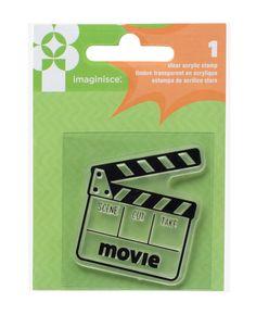 Imaginisce - Family Fun Collection - Snag 'em Acrylic Stamps - Movie at Scrapbook.com