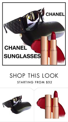 """CHANEL SUNGLASSES"" by francoisefortier ❤ liked on Polyvore featuring Chanel and vintage"