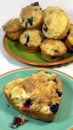 Inspired By eRecipeCards: Sour Cream Blueberry Muffins - 52 Breakfast Recipes for Church PotLucks or Catering